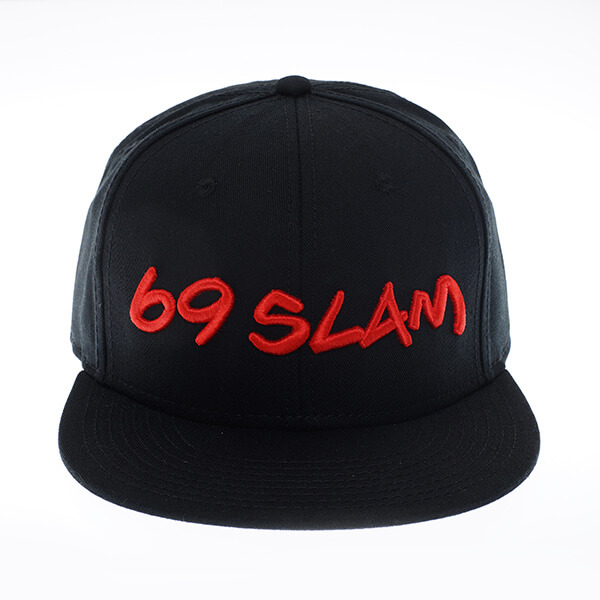 69SLAM EMBROIDEDBLACK CAP