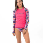 TROPICAL GLITCH LONG SLEEVES RASH VEST
