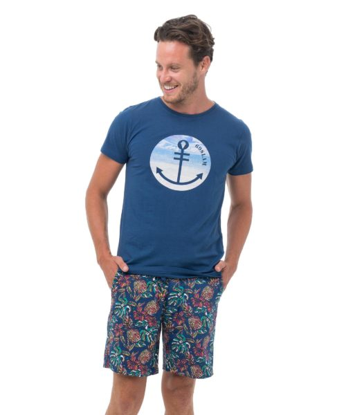 BEACH ANCHOR NAVY DNA COLLECTION SHORT SLEEVES T-SHIRT