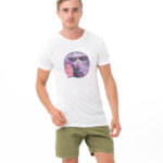 VEGAN RABBIT WHITE BE DIFFERENT COLLECTION SHORT SLEEVES T-SHIRT