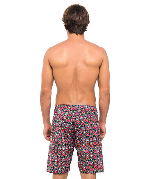 FLOWER SKULL 4 WAYS STRETCH BOARDSHORT