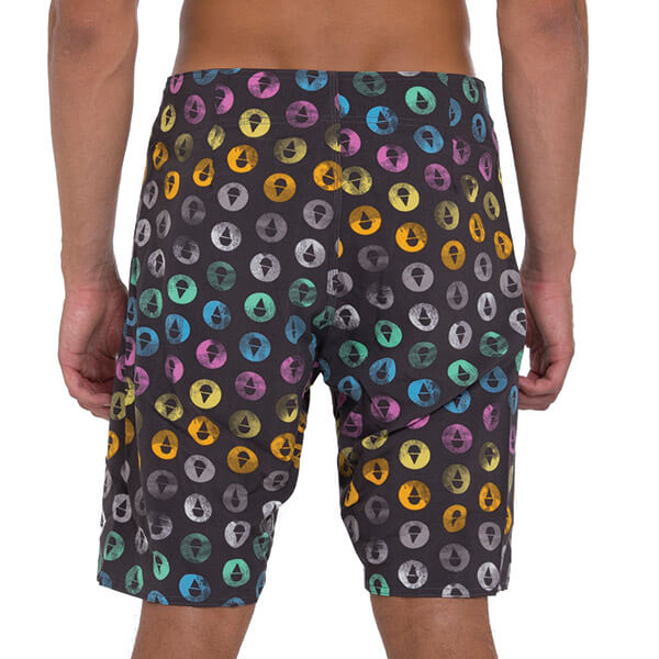 POGS GREY 4 WAYS STRETCH BOARDSHORT