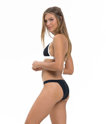 PLAIN BLACK CANCUN BIKINI BOTTOM