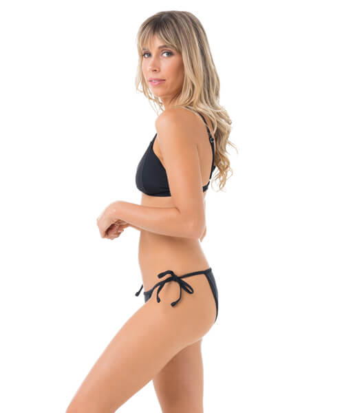 PLAIN BLACK TRIANGLE BIKINI BOTTOM