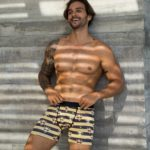 GIRAFFE STRIPES BAMBOO FITTED FIT BOXER