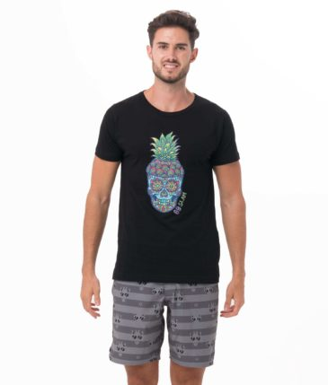 PINE SKULL BLACK BE DIFFERENT COLLECTION SHORT SLEEVES T-SHIRT