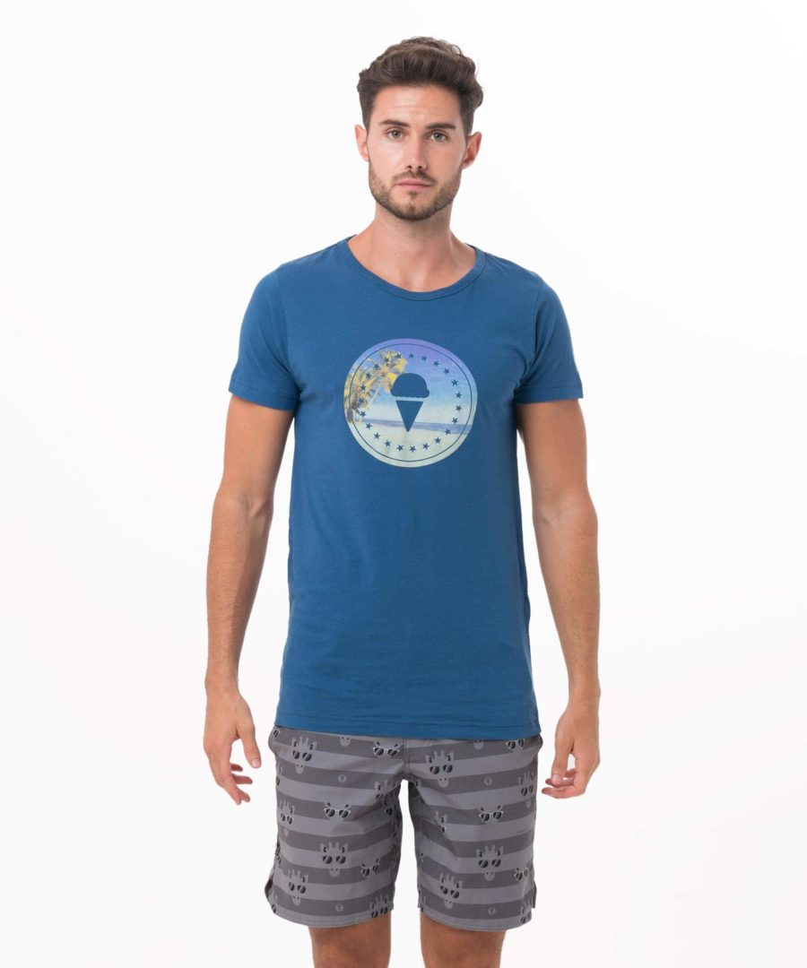 GILI ISLE BLUE DNA COLLECTION SHORT SLEEVES T-SHIRT
