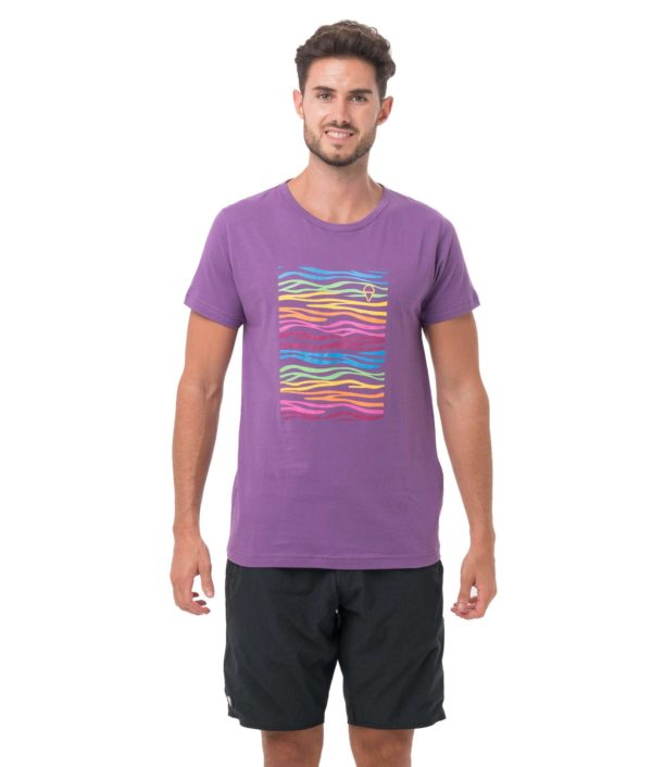 ZEBRA NEON PURPLE BE DIFFERENT COLLECTION SHORT SLEEVES T-SHIRT