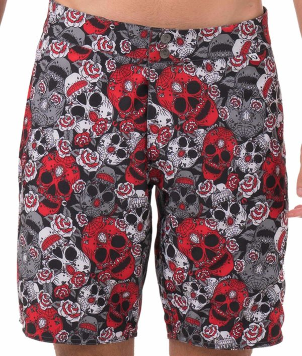 RED SUGAR CRANE REVERSIBLE WALKSHORTS