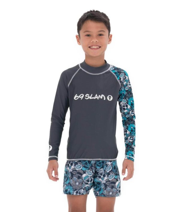 BOYS MINT SUGAR CRANE L/S RASH VEST